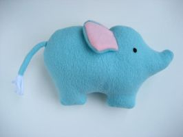 Baby Elephant Plush by Neoitvaluocsol