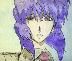 Major Motoko Kusanagi [Colored] by sephiroth1204