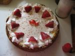 Strawberry Sour Cream Cheesecake 1 by Kafae-Latte