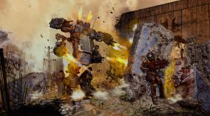 Mech Fight by goor