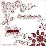 Flower elements by generosa