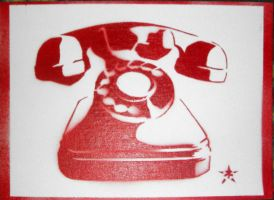 Phone Stencil by josiahbrooks