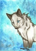 ACEO: WhiteSpiritWolf by Jungle-Fire