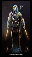 Droid - Assasin concept by RainKacper