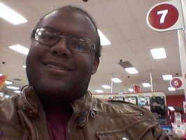 Selfie at Target checkout by mylesterlucky7