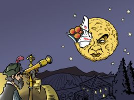 Editorial Art: A Trip to the Moon? by Snipetracker