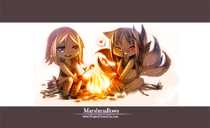 Commission: Marshmallows by KodamaCreative