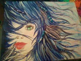Blue and Purple Wind . by AnnaBearLover