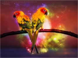 Paradise Birds by PimArt