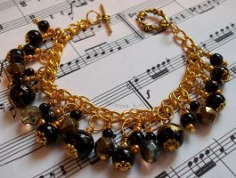 Black and gold bracelet by TerraNovaJewels