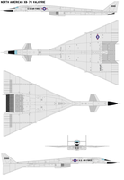 North American XB-70 Valkyrie by bagera3005