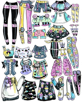 Mix and Match outfits-CLOSED by Guppie-Vibes