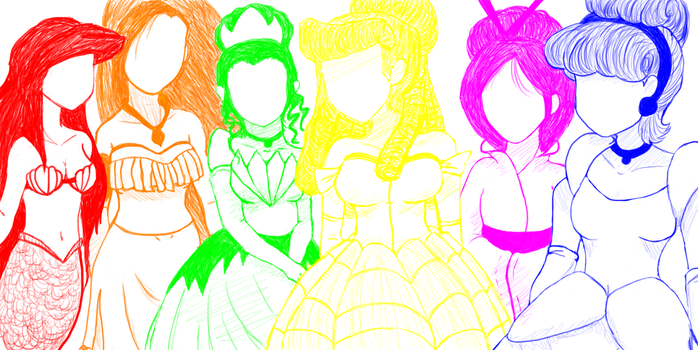Fill in  Disney Princesses by DemonKing113