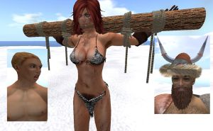 Red Sonja Captured by Viking Father and Son by alpe4