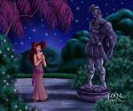 MEG AND THE STATUE OF HERCULES by FERNL