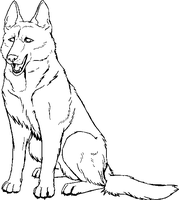 Free German Shepherd Lineart by Gingastar18