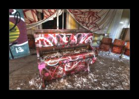 Feathered Piano by 2510620