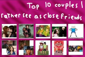 Top 10 Couples I See as Just Friends (or Whatever) by MariposaLass-93