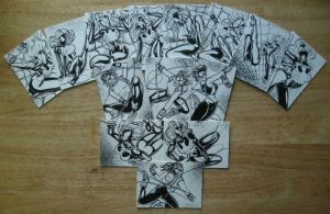 ULTIMATE SPIDER WOMAN and SPIDER GIRL SKETCH CARDS by AHochrein2010