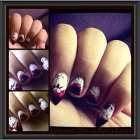 Halloween Special Bloody Fangs Nail Art. by KathyLioncourt