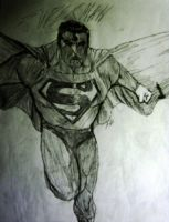 Flying Superman by spiderson5000