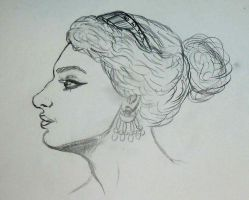 Queen Cleopatra VII sketch 7-19-12 by Medusa1893
