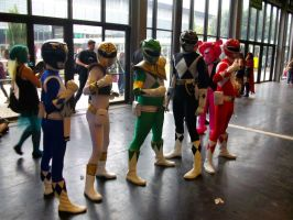 Power Rangers at Japan Expo by dahcyst