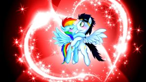 Rainbow Dash X Soarin (Wallpaper) by Hardii