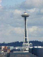 Space needle seattle by Flyboy008
