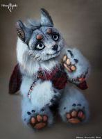 Gray wolf Elmer by Flicker-Dolls
