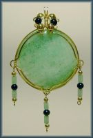 Aventurine and Onyx Pendant by MajorTommy