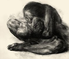 Woman with her Dead Child by volckening