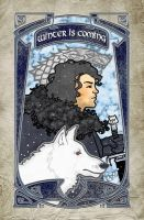Jon Snow and Ghost of Game of Thrones by photon-nmo