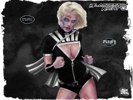 Black Lantern Powergirl by optical-intrusion