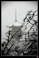 Pagodas in Snow I by tensai-riot