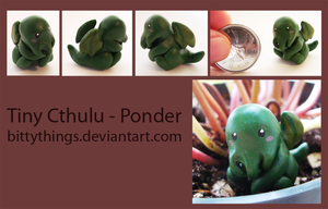Tiny Cthulu - Ponder - SOLD by Bittythings
