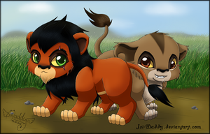 Chibi Scar and Zira by Isi-Daddy