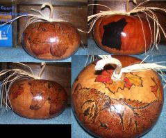 Woodburned gourd by Haileyjo13