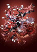 Harley Quinn WITH RED DRAGON by daxiong