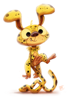 Day 687. Marsupilami by Cryptid-Creations
