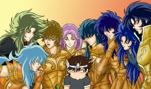 Saints group in color by Setsuna-Yagami
