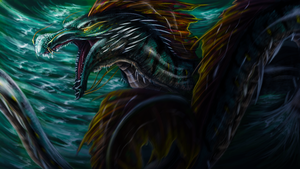 Sea serpent by metal-beak
