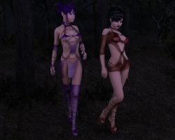 Strolling After Dusk In The Woods by Tiffany-Hailes