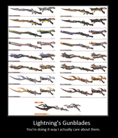 Lightning's Gunblades poster by TPPR10