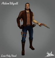 3D Character 01: Aiden Wyatt Low Poly Final by Ulamb