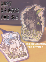 bust badges ~coms open~ by AYRlA