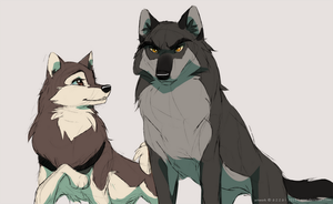 Balto's parents + other by azzai