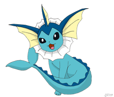 Vaporeon dreamworld pose by pokefan444