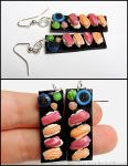 Sushi Earrings - Tuna and Salmon by Bon-AppetEats