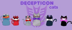 Decepticons cats by WolfRemus